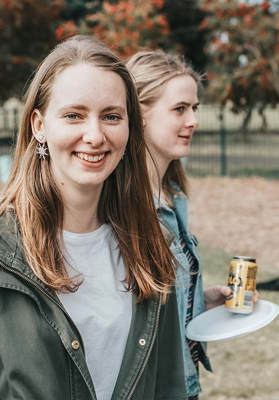 Young adults at a community BBQ for CityLight Church North Adelaide.