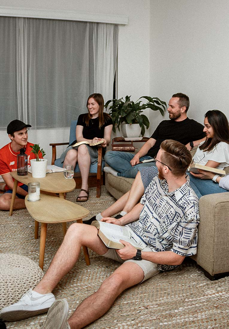 A Discipleship Group discussing the Bible in suburban Adelaide