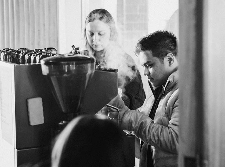Fresh coffee being made at CityLight Church North Adelaide.